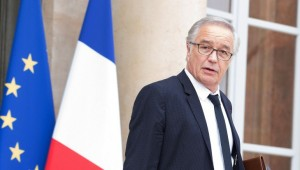 French Labour Minister Francois Rebsamen leaves the Elysee Presidential Palace after the weekly cabinet meeting in Paris, FRANCE-11/03/2015./NIVIERE_048NIV/Credit:NIVIERE/SIPA/1503111327