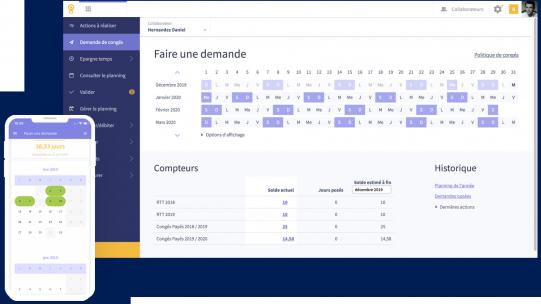 Avec e-Congés, l'intégralité de la procédure de demande et de validation est automatisée et dématérialisée : enregistrement de sa demande par le salarié, validation ou refus par son manager, visualisation des plannings d'équipe, mise à jour des compteurs, transmission automatiques des absences en paye.